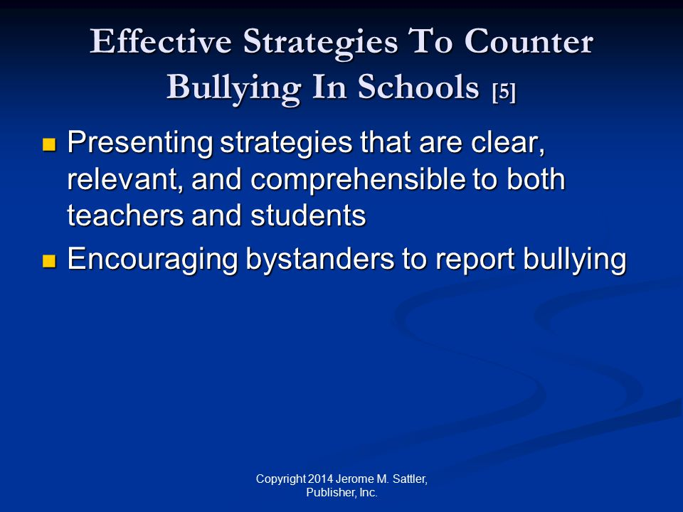 Effective Strategies To Counter Bullying In Schools [5]